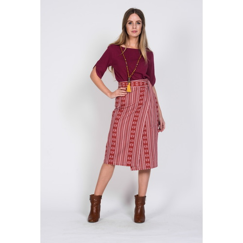 Hemp Cotton Wrap Skirt