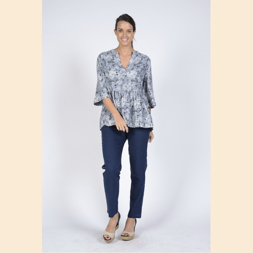 Hemp and Bamboo Frill Shirt